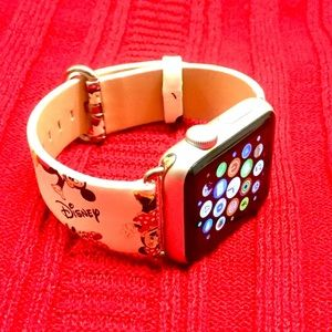 38mm Minnie Mouse Apple Watch Leather Band